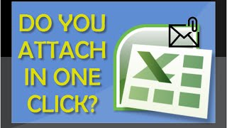 Excel Tutorial - How To Attach Open Excel File To Email Message