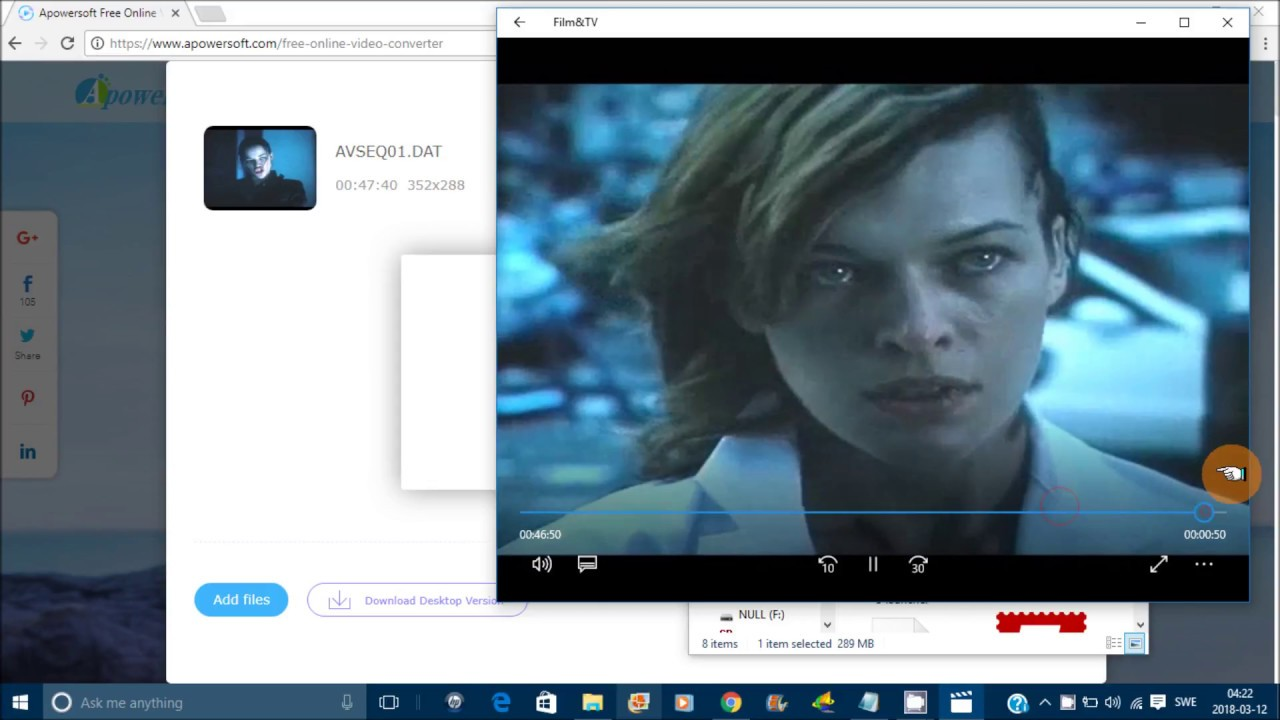 dat video file converter to mp4 online