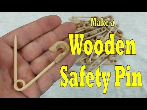Safety Pin: Make one out of wood! DIY (Quickie #8)