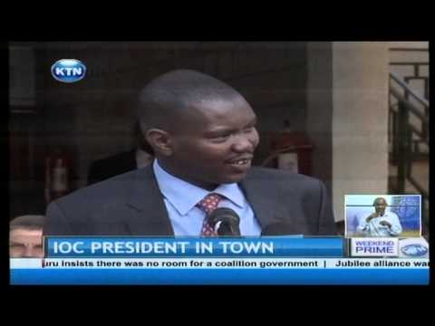 The International Olympic Committee president promises funding to develop Eldoret Sports