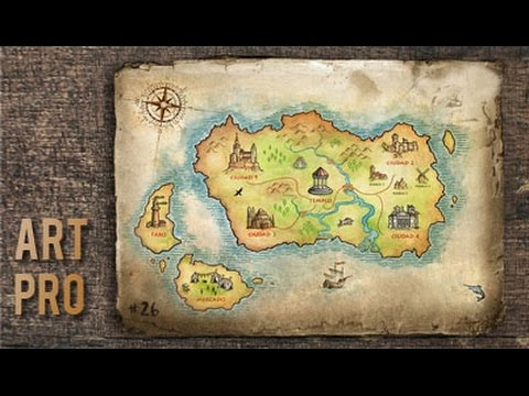 How to draw a map step by step