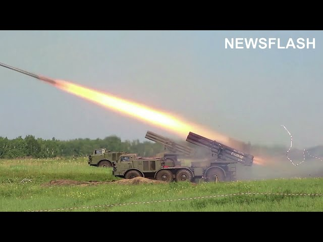 Big Boom Of Russian Army During A Training Operation In Siberia