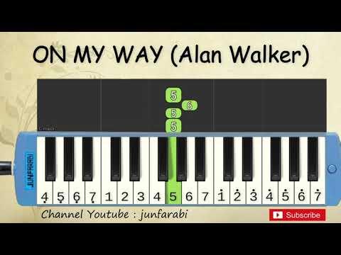 Not Pianika On My Way - Alan Walker Pubg - Tutorial Belajar Pianika