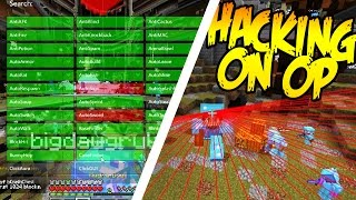 MINECRAFT HACKING ON AN OPPED ACCOUNT!