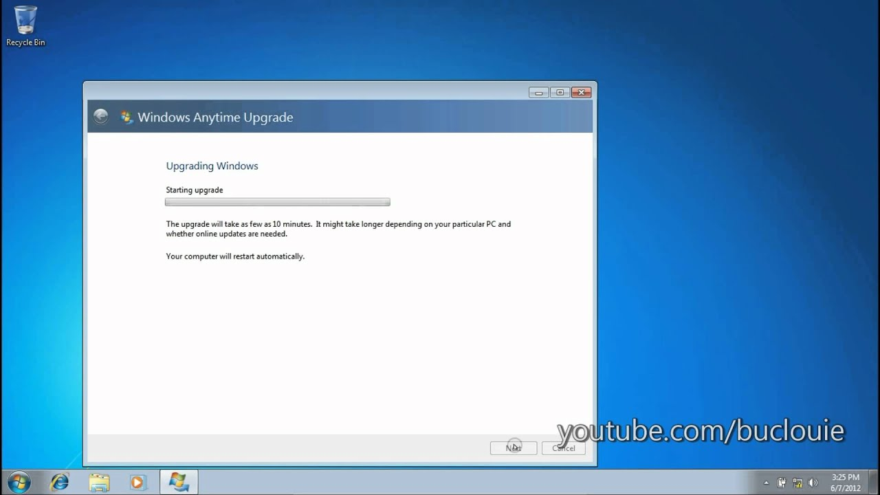 how to turn on windows anytime upgade windows 7