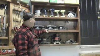 Garage Organization - How To Make A Tool Display Cabinet - How To Display More Tools!