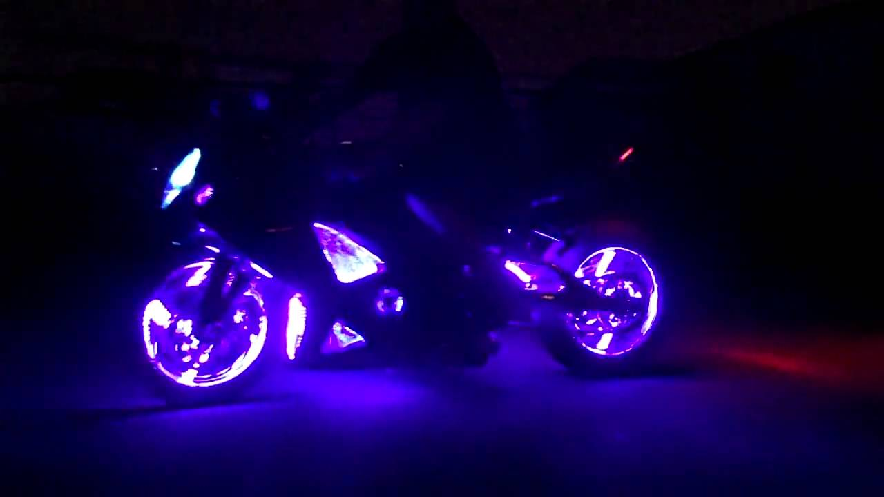 motorcycle led wheel light kits by all things chrome youtube. Black Bedroom Furniture Sets. Home Design Ideas