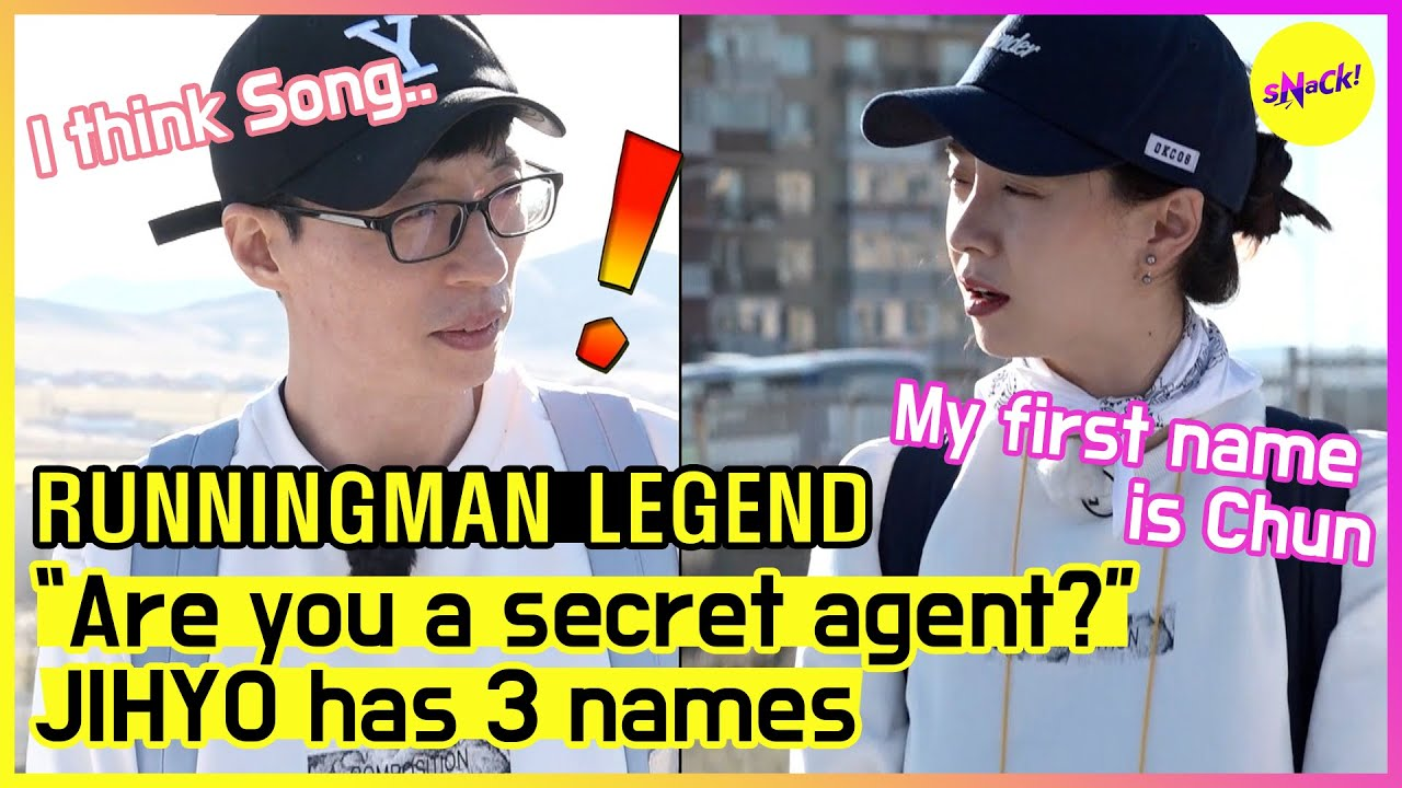 "[RUNNINGMAN THE LEGEND] ""Ms. Chun Su Yeon~"" ""Is it you, JIHYO?"" at the airport to Mongolia (ENG SUB)"