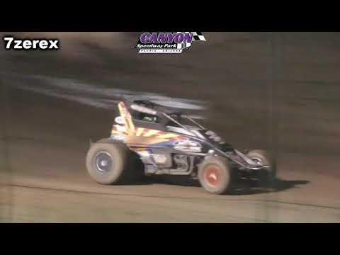 ASCS Sprint Cars Heat 1 Canyon Speedway park 5-26-2019