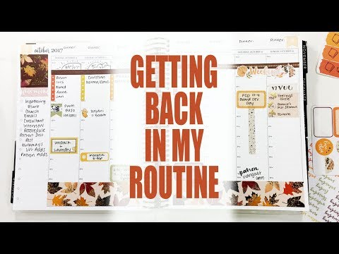 Plan With Me | Erin Condren Hourly | Fall Colors