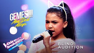 Alicya Zarabelle - Jangan Marah | Blind Auditions | The Voice Kids Indonesia Season 4 GTV 2021