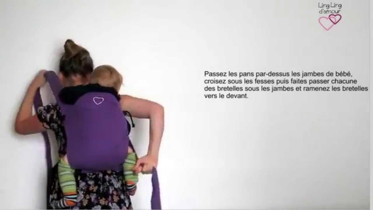 MEI-TAI   portage dorsal avec mise au dos par la hanche pour petit bébé    LING LING D AMOUR 34a4a5901b4