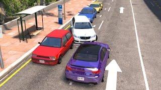 BeamNG drive - Parking lot Speeding car Crashes