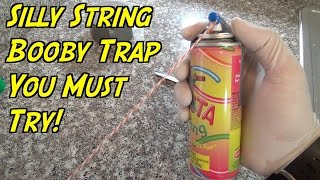 The Ultimate Silly String Prank You Gotta Try - HOW TO PRANK (Evil Booby Traps)