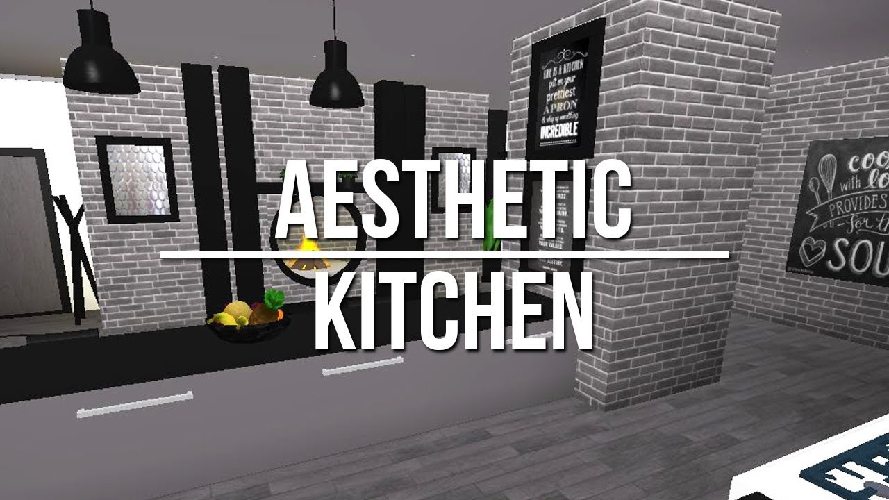 Roblox welcome to bloxburg aesthetic kitchen youtube for Kitchen designs bloxburg