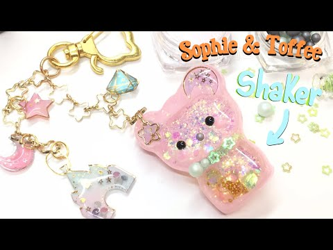 Sophie and Toffee- Animal Parade- Shaker charm- UV resin- Tutorial