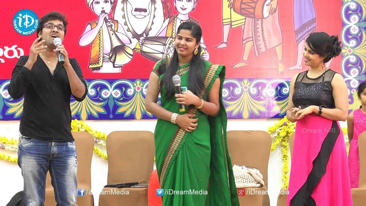 Singer Lipsika, Sri Krishna Funny Singing @ TANA Chaitanya