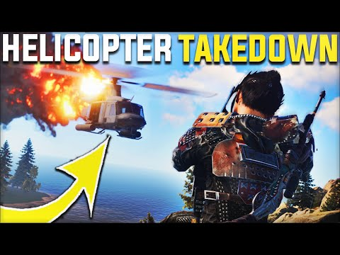 TAKING DOWN THE HELICOPTER WITH MY RICH NEIGHBOURS! - Rust Survival Gameplay | S20-E2 thumbnail