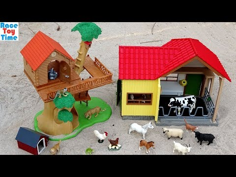 Schleich Toy Farm and Wildlife Animals Surprises Fun Toys For Kids - Learn Animal Names