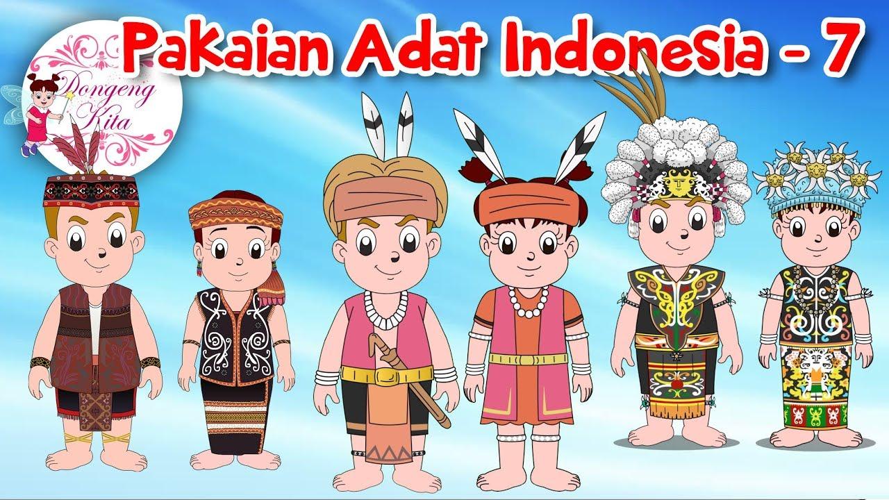 Gambar Pakaian Adat Indonesia Kartun Lengkap