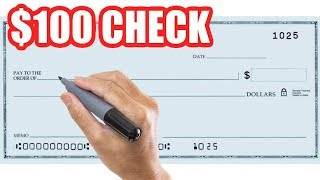 How to Write a Check for 100 Dollars Correctly