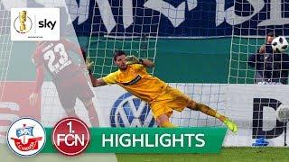FC Hansa Rostock - 1. FC Nürnberg 2:4 i.E. | Highlights - DFB-Pokal 2018/19 | 2. Runde