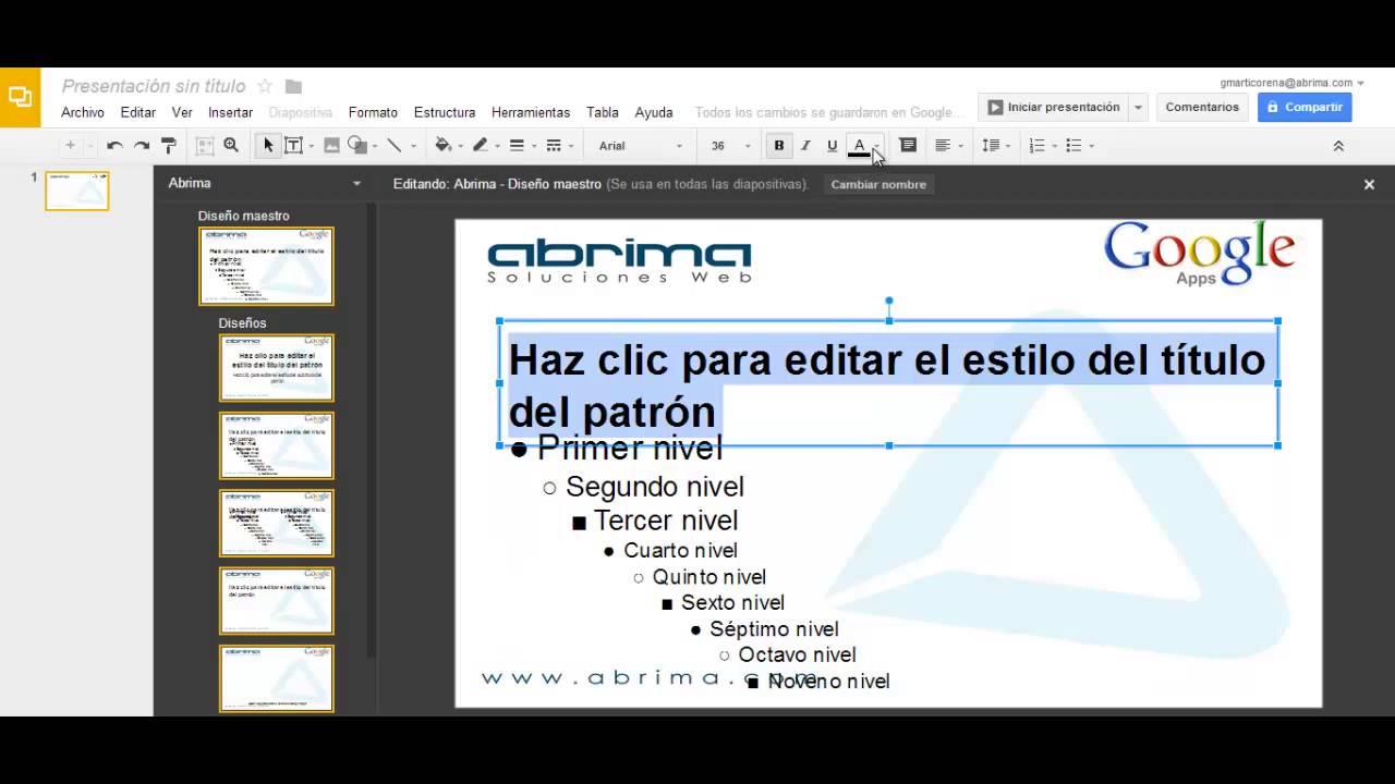 Master Slide O Diseño Maestro En Diapositivas De