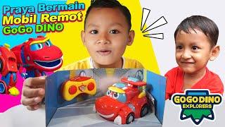 Praya Dan Adik Pringga Bermain Mainan Mobil Remot Gogo Dino