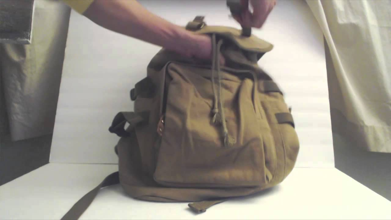 OXA Vintage Canvas Travel Backpack Style 50 Review - YouTube 56dbecbbf86b2