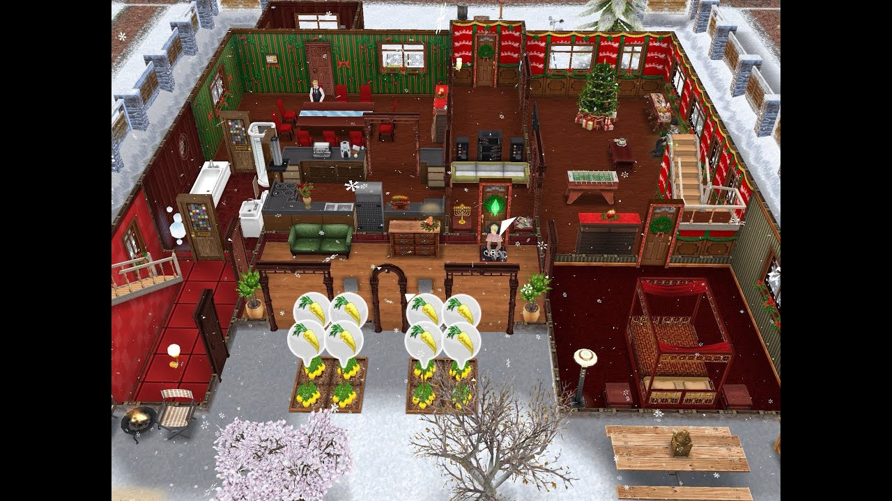 Christmas Cabin- Sims FreePlay Holiday Update - YouTube