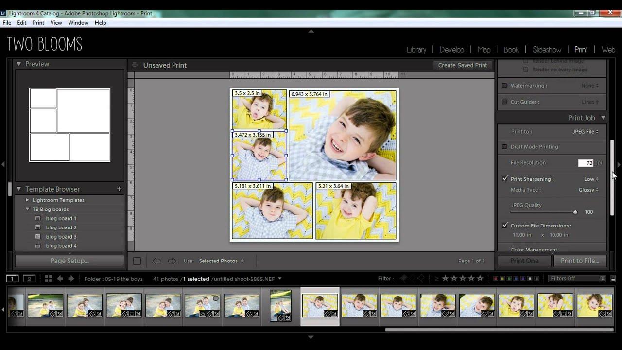 Using Print Templates In Lightroom YouTube - Lightroom templates
