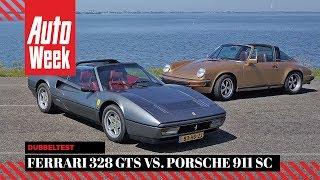 Ferrari 328 GTS vs. Porsche 911 SC - AutoWeek dubbeltest - English subtitles