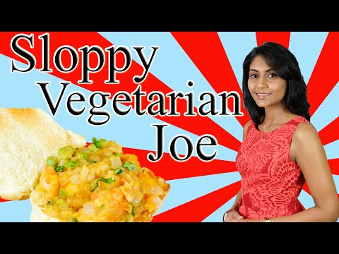 Sloppy Vegetarian Joe : Sloppy Vegetarian Burger