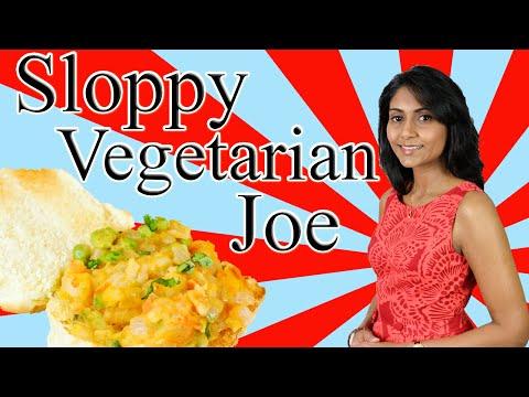 Sloppy Vegetarian Joe : Sloppy Vegetarian Burger