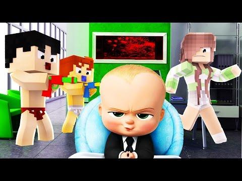 Minecraft - BOSS BABY - BABY KILLS BABYSITTER?!