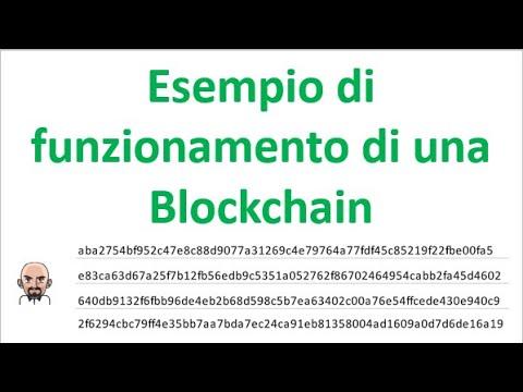 Esempio di funzionamento di una Blockchain