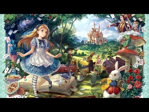 """отличное день рождение в стиле """"Алиса в стране чудес"""""""