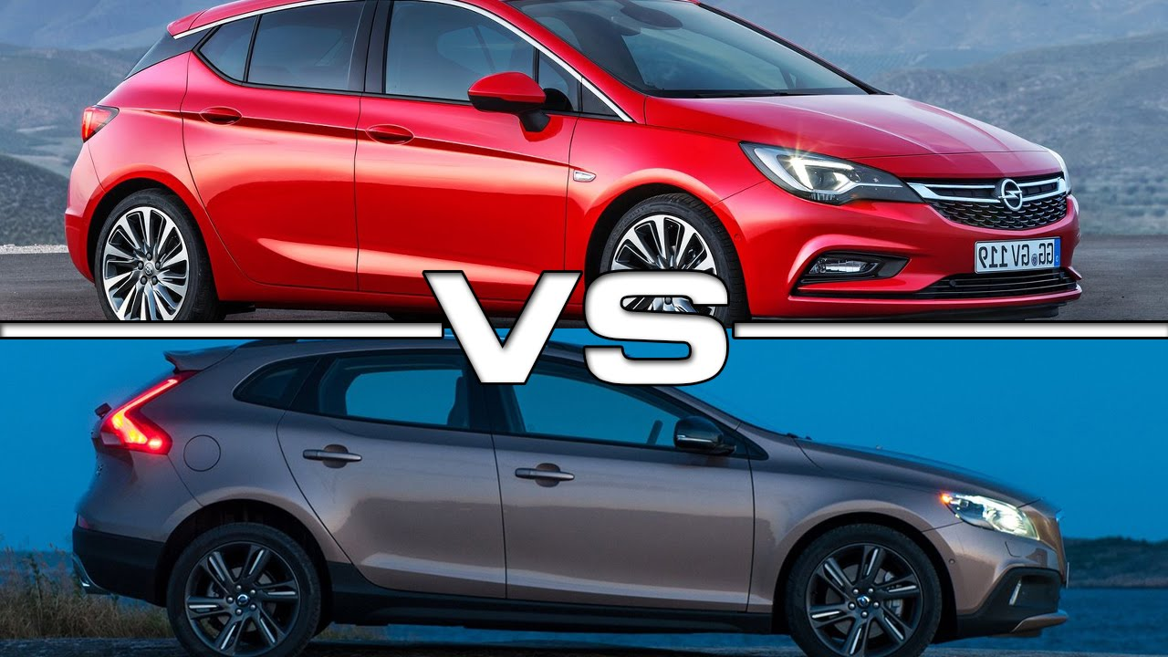 2016 Opel Astra vs 2016 Volvo V40 R - YouTube