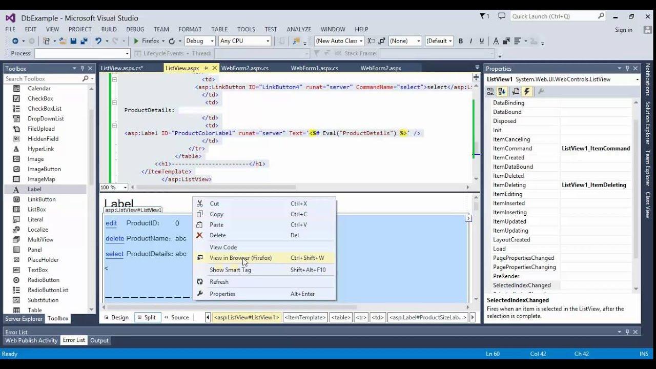 دورة قواعد بيانات للمبتدئين 16# العرض والحذف والتعديل في  ListView  الجزء الأول