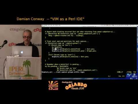 2016 - VIM as a Perl IDE‎ - Damian Conway