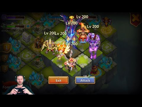 New Double Evolved Lost Realm Heroes Demogorgon Anubis Ronin Castle Clash