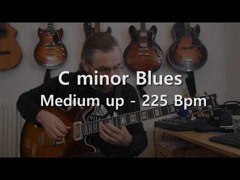 C minor Blues - Backing Track - Playalong - 225 Bbpm