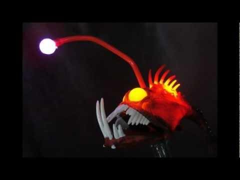 Lady ga ga concert party prop anglerfish paparazzi fiber for Nemo light fish