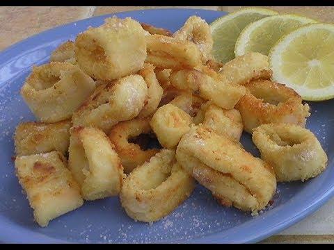Anelli di calamari fritti ricetta al forno youtube
