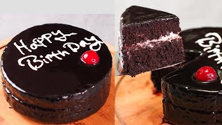 BIRTHDAY CAKE IN LOCK DOWN  3 INGREDIENTS CHOCOLATE CAKE  WITHOUT MAIDA, CREAM, EGG, OVEN  N&#39OVEN