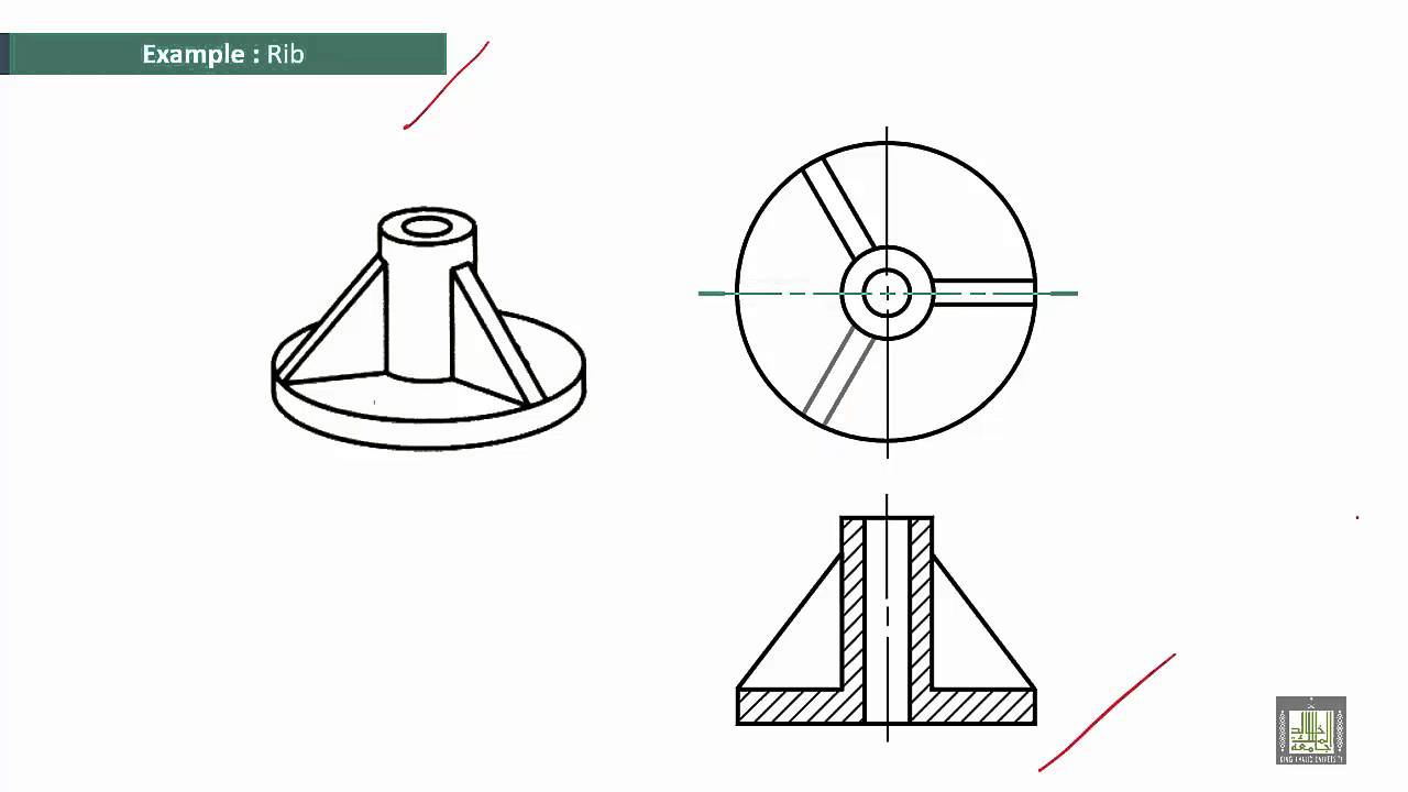 Examples Section Drawing Engineering