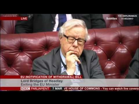 House of Lords Front Bench Debate On Parliament Brexit Veto