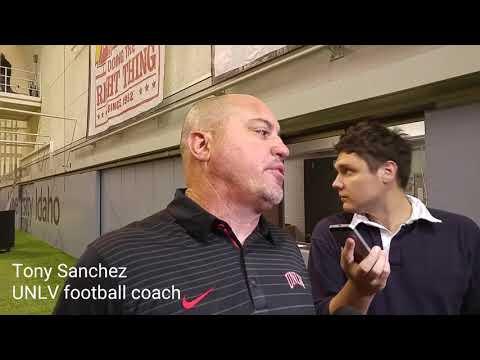 Tony Sanchez on UNLV's victory at Idaho