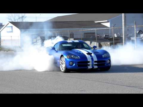 2008 Dodge Viper SRT-10 burnout! [HD]