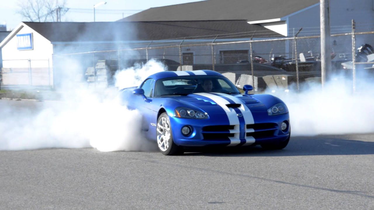 2008 Dodge Viper Srt 10 Burnout Hd Youtube